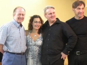 Con el Trío Paderewski tras su magnífico concierto en el XVIII ciclo de conciertos Áureo Herrero 2013
