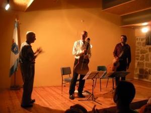 Raymond Vauterin felicita a KETTARAH en su estreno mundial de su composición Au fil des saisons
