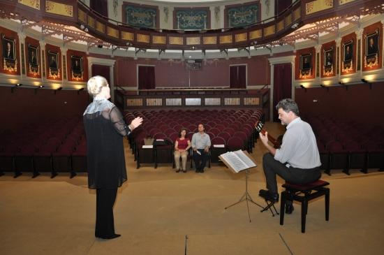 prueba acústica antes del concierto