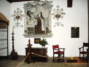 detalle de un fresco sobre Sta. Teresa