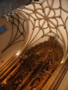Detalle de la bóveda en crucería.