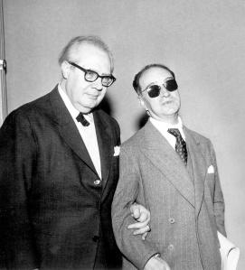 Andrés Segovia con Joaquín Rodrigo