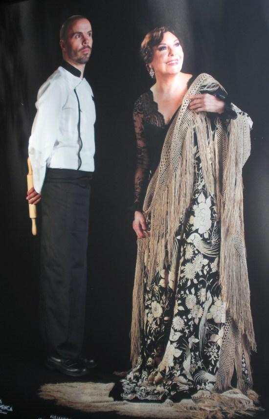 Blanca del Rey (bailaora) y Alejandro Jaén (Chef del Corral de la Morería