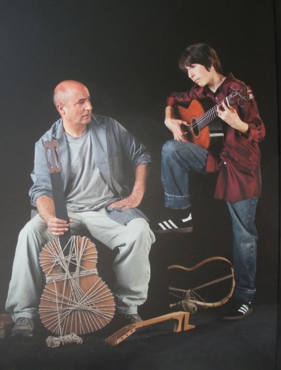 Mariano Conde (guitarrero) y Amós Lora.