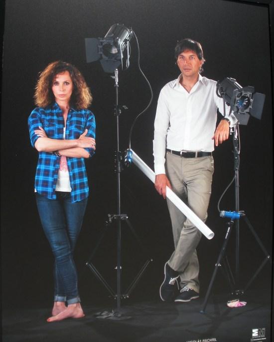 Aida Gómez (bailarina) y Nicolás Fichtel (diseñador de iluminación)