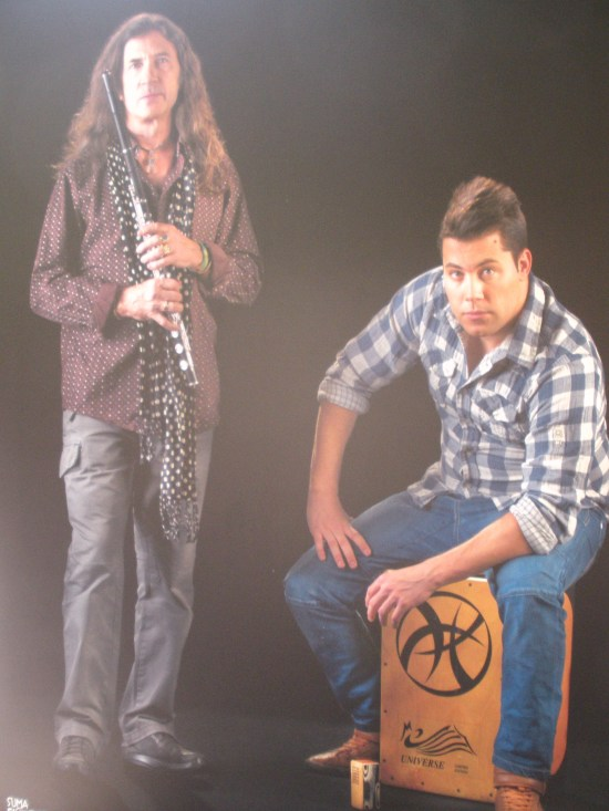 Juan Pardo (músico) y Miguel Pardo (percusionista)